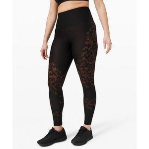 Lululemon leggings Size 6 black and Orange
